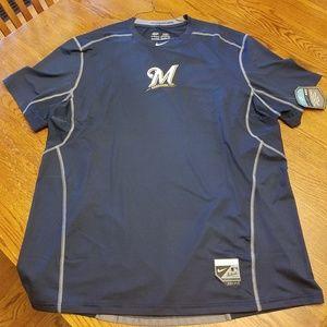 Milw Brewers Nike Dri Fit Shirt